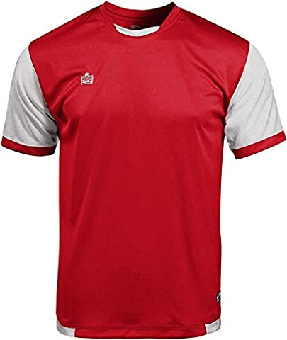 Admiral Trafford Ready-to-Play Soccer Jersey, Scarlet/White, Adult