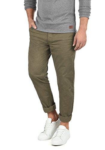 Blend Tromp Herren Chino Hose Stoffhose aus 100% Baumwolle Regular Fit, Größe:W34/34, Farbe:Mocca Brown (71508)