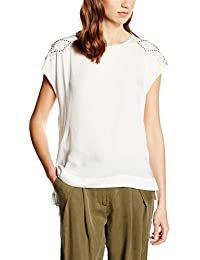 Cortefiel CTA P/P Tachas Hombros, Camiseta para Mujer