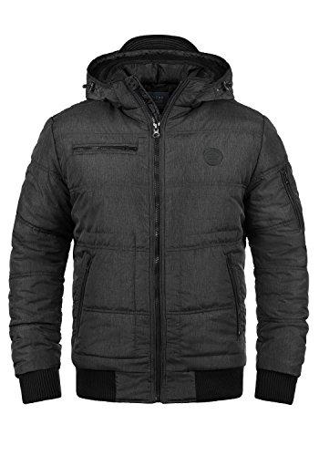 BLEND Boris Teddy Herren Winterjacke Jacke mit Kapuze und Teddyfutter aus hochwertigem Material, Größe:L, Farbe:Black Teddy (75126)