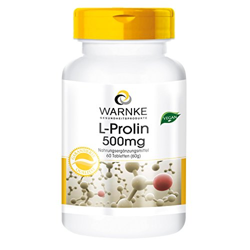 L - Prolina polvere compressa 500mg - 60 Compresse - Vegan