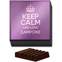 Duke Gifts Set di 4Viola Keep Calm And Love Zampone Vetro sottobicchiere Colore 3152
