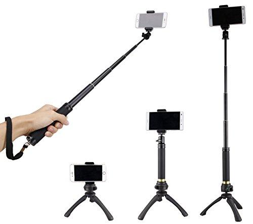 Fotopro Mini treppiede Imposta selfie Stick, adattatore del telefono cellulare, Bluetooth di...