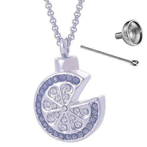 , Asche Anhänger runder Diamant Blume Legierung Parfüm Flasche Anhänger Trichter FüLlen-Kit Inklusive ()
