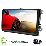 2 Din 22,9 cm Android 6.0 Head Unit Autoradio Stereo GPS Navi Quad Core Bildschirm Link Bluetooth Kfz Radio AM/FM/RDS für VW Passat B6 CC Polo Golf 5 6 Touran Jetta Tiguan Magotan Sitz