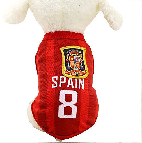 EVRYLON Kostüm für Tiere, Fußball, Microbista Ultra Spanien Hund XS Verkleidung Halloween Cosplay Weihnachten oder Geburtstag (Große Rasse Hunde Weihnachten Kostüm)