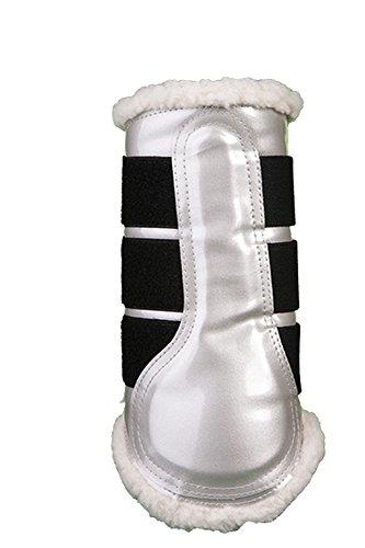 HKM un confort anatomique Cheval Poney coloré avec doublure en fourrure brossage/Protection Bottes Silber