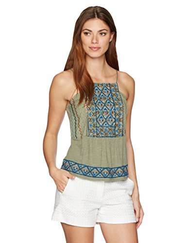 Lucky Brand Damen Cami Bestickt - Blau - Klein (Lucky Brand Cami)