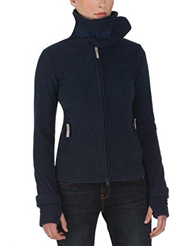 Bench Damen Sweatshirt Fleecejacke Funnelneck,Total Eclipse, Gr. XS