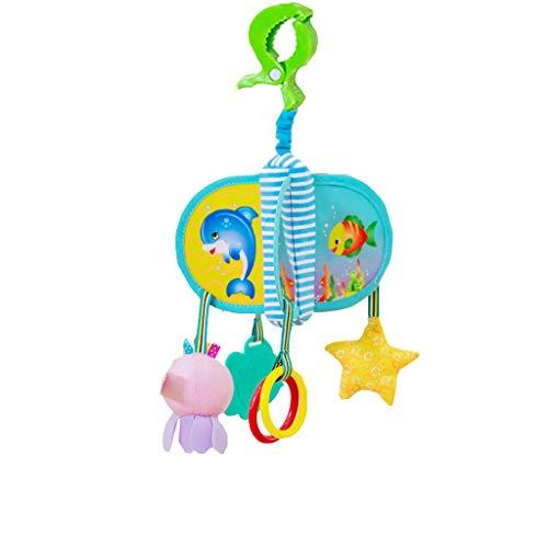 Mitlfuny Unisex Baby Kinder Jungen Zubehör Säuglingspflege,Baby Bettwäsche Krippe Musical Mobile mit hängenden rotierenden weichen bunten ()