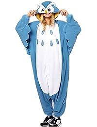 Anbelarui Tier Skelett Pinguin Dinosaurier Panda Einhorn Kostüm Damen Herren Pyjama Jumpsuit Nachtwäsche Halloween Karneval Fasching Cosplay Kleidung S/M/L/XL