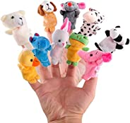 10pcs/lot Cute Animals Rabbit Dog Bear Finger Puppet Plush Toys Doll For Baby Early Educational Toys Birthday