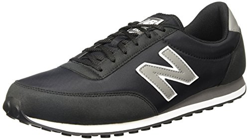New Balance 410, Baskets Unisexe-adulte Noir (noir / Gris)