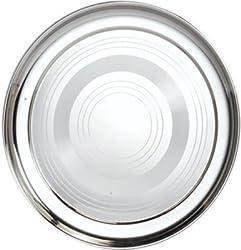 Sagene Stainless Steel Dinner Plate -Thali ,Size-27.5 Centimeter,6 Piece