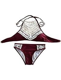 Bademode Patchwork ein Stück Badeanzug Frauen Monokini Hebt Schwimm Anzug GD