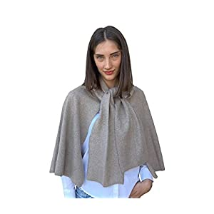 Damen Poncho Cape Überwurf Strickjacke Strick Pullover Herbst Winter One Size