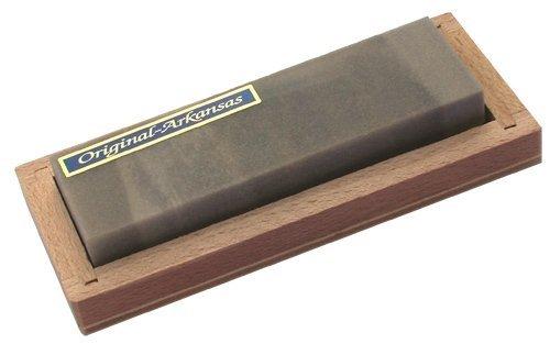 Abziehstein Hart Arkansas 90x25mm in Holzbox (Arkansas Klinge)