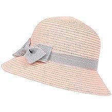 Sombrero del Lavabo del Arco de los Niños Sombrero de Paja Protección Solar  Sombrero para el ad3243cad72