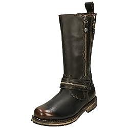 harley davidson sackett ladies leather zip up mid calf boots brown - 41N7jQNZjTL - Harley Davidson SACKETT Ladies Leather Zip Up Mid Calf Boots Brown