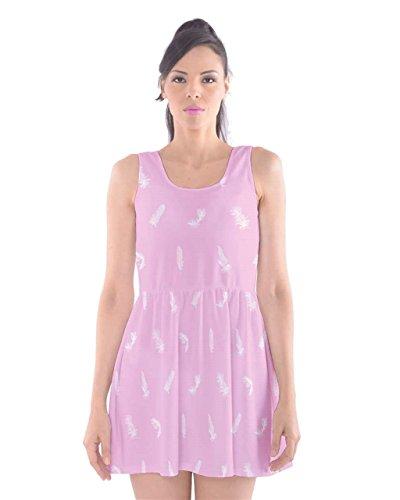 CowCow Damen Kleid Violett indigo Pink Bird