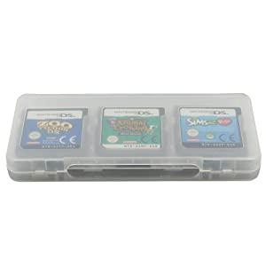 Assecure White 6 Game card holder for Nintendo 3DS, DS, DS lite, DSi & DSi XL storage box 6 in 1