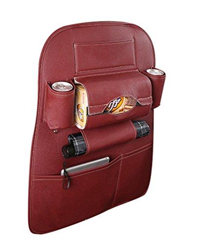 Preisvergleich Produktbild Lumeidon Multifunktions Auto Rücksitztasche Organizer,Rücksitztasche Artikel Speicher-Beutel,Rücksitztasche ,Rückenlehnentasche AutoRot Wein 65cm*50cm