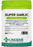 Lindens Hochdosierte Super-Knoblauch 6000 mg Kapseln