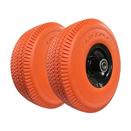Haicyon Flat Free Hand Truck/Utility Tire auf Rad, 25,4cm x3.50-4, 40,6cm x4.00-8, 38,1cm x6.00-6, 40,6cm x6.50-8, 1/2, 5/8Oder 3/4Achse 3.50-4