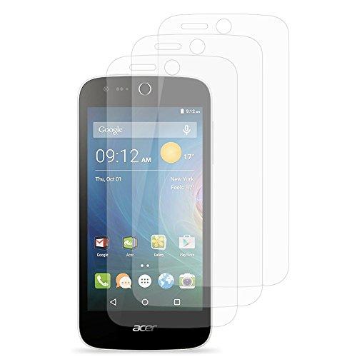 VComp-Shop® 3x Transparente Bildschirmschutzfolie für Acer Liquid Z320/ Z330 - TRANSPARENT