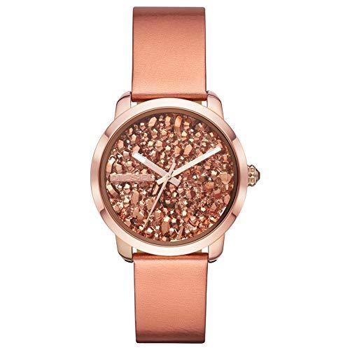 Diesel Damen Analog Quarz Uhr mit Leder Armband DZ5583