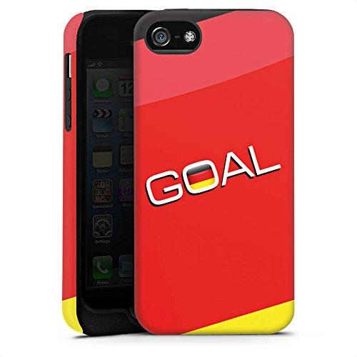 Apple iPhone X Silikon Hülle Case Schutzhülle Deutschland Tor Fußball Tough Case matt