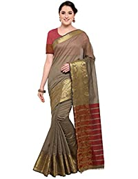 Pisara Women's Chanderi Silk Saree With Blouse Piece Sari