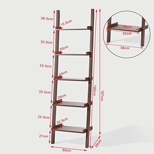 SoBuy-Scaffale-a-scala-moderno-con-cinque-ripiani-colore-marrone-FRG17-BRIT