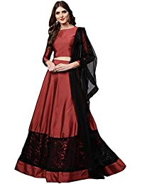 5de8b9992d6 Inddus Women s Silk Blended Solid Semi-Stitched Lehenga Choli with Dupatta  (IND-IFW