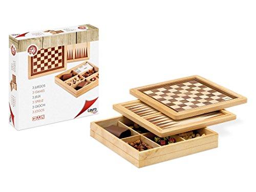 Preisvergleich Produktbild Cayro Schach, Checkers und Backgammon-Set