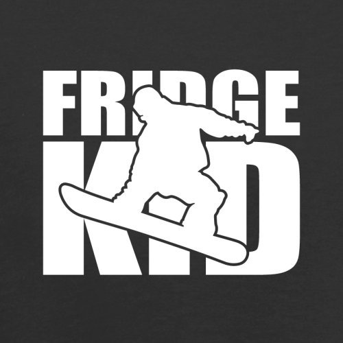 Fridge Kids Snowboard - Herren T-Shirt - 13 Farben Schwarz