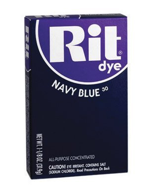 Navy Powder (Rit Powder Dye Navy Blue 1-1/8 Oz by Phoenix)