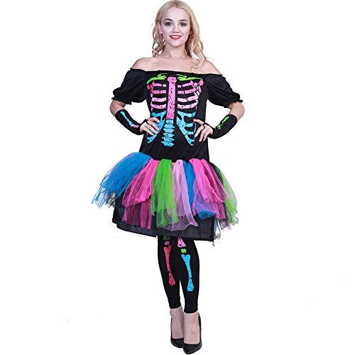 Baby Burlesque Kostüm - Tjtcs Halloween Kleid Frauen Scary Jumpsuit Skeleton Cosplay Kinder Schädel Kostüm Baby Strampler Hexe Steampunk Disguise Devil,Adult,L