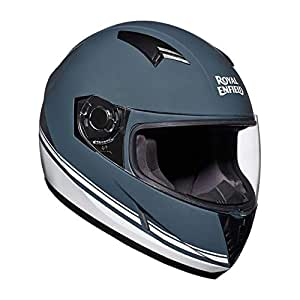Royal Enfield Gloss Grey Full Face Helmet Size (M)58 CM (RRGHEI000101)