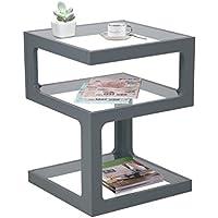 ASPECT Rossini Triple Level Side Coffee End Lamp Table, Wood, Grey, 40 x 40 x 52 cm