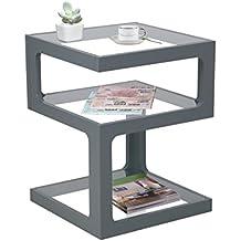 Aspekt Rossini Triple Level Seite Kaffee Ende Lampe Tisch, Holz, Grau, 40x 40x 52cm
