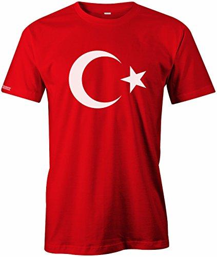 Türkiye Mond und Stern - Türkei - Herren T-SHIRT in Rot by Jayess Gr. L