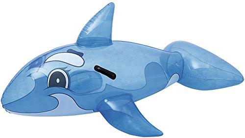 Bestway Transparent Whale Rider 117x71 cm, Schwimmtier