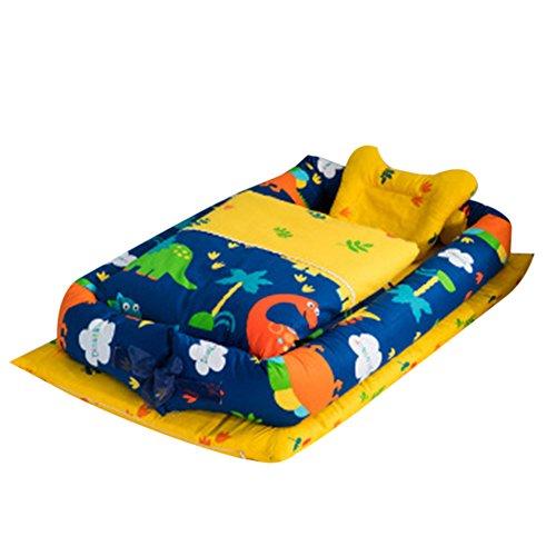Baby Cribs 100% Quality Newborn Baby Crib Comfortable Bed In Bed Newborn Babies Sleep Basket Sponge Folding Crib Magic Baby Portable Mattress Ture 100% Guarantee