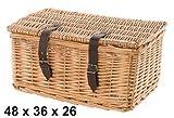 Zemto Angebot ! ! Fahrradkorb braun & groß aus Rattan mit Deckel