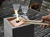 Nachfüllwachs für Betonfeuer der Beske-Manufaktur (30 Wachsplatten) | Wachs in praktische Wachsplatten gegossen zum Wiederbefüllen von Betonfeuer | Größe wählbar (für Betonfeuer der Maße: 13x13x13, 17x17x17, 24x24x13, runde Betonfeuer)