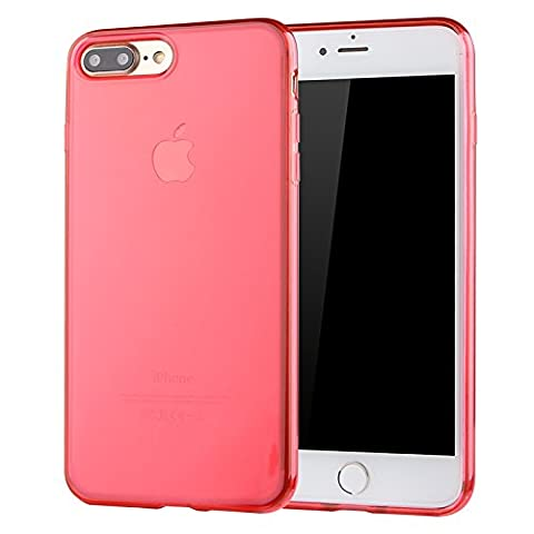 Coque de protection pour iPhone 7 PLUS RED, The Flame Store en silicone (TPU) Lisse Protection Slide Anti Case Complete Ultra-Thin Slim