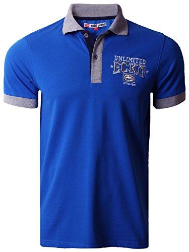 Ecko Unltd Herren Polo Shirt Grafik Kurzarm Sommer MAGNUM Prinzessin Blau