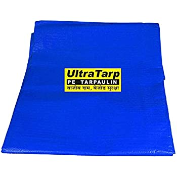 ULTRATARP Plastic Tarpaulin Virgin UV Treated 120 GSM (Blue, 12 x 18 ft)
