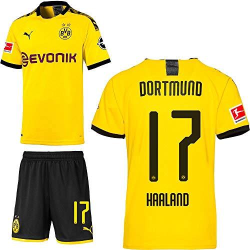 PUMA Borussia Dortmund BVB Heimset 2019 2020 Home Kit Trikot Shorts Kinder Erling Haaland 17 Gr 152